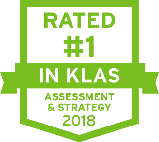 number 1 in KLAS Assessment & Strategy icon