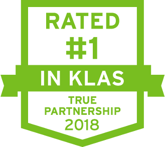 2018 1 in KLAS True partnership shield
