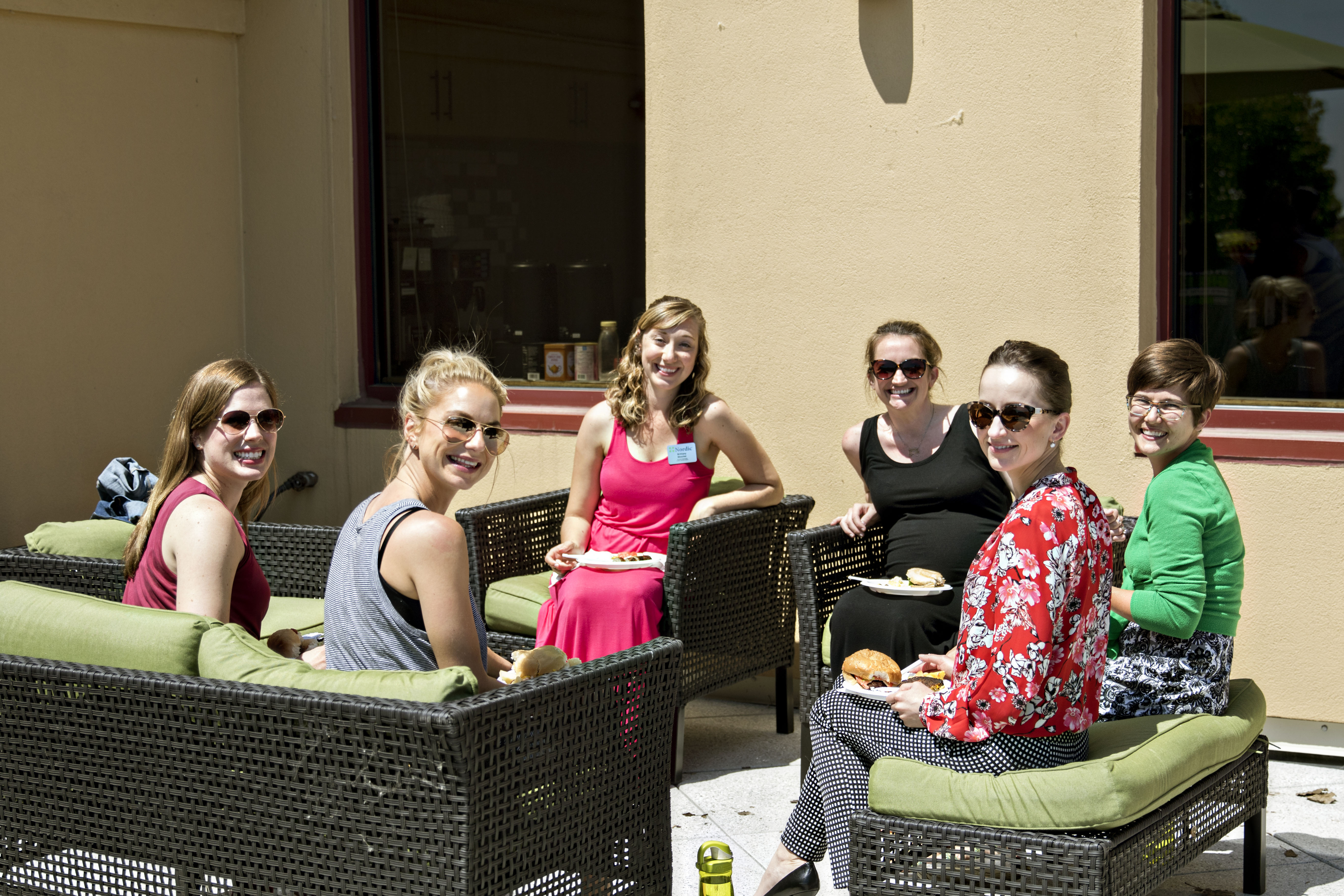 Nordic employees and consultants enjoy a cookout