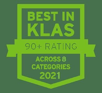 Best in KLAS Top Performer - 8 areas 2021-1