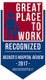 2017 Becker's Great Place to Work