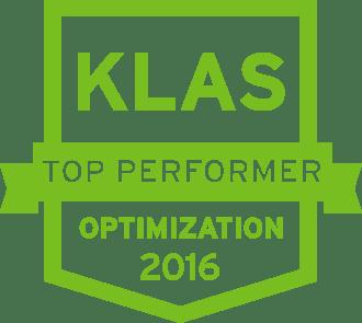 Top KLAS Performer Optimization 2016 shield