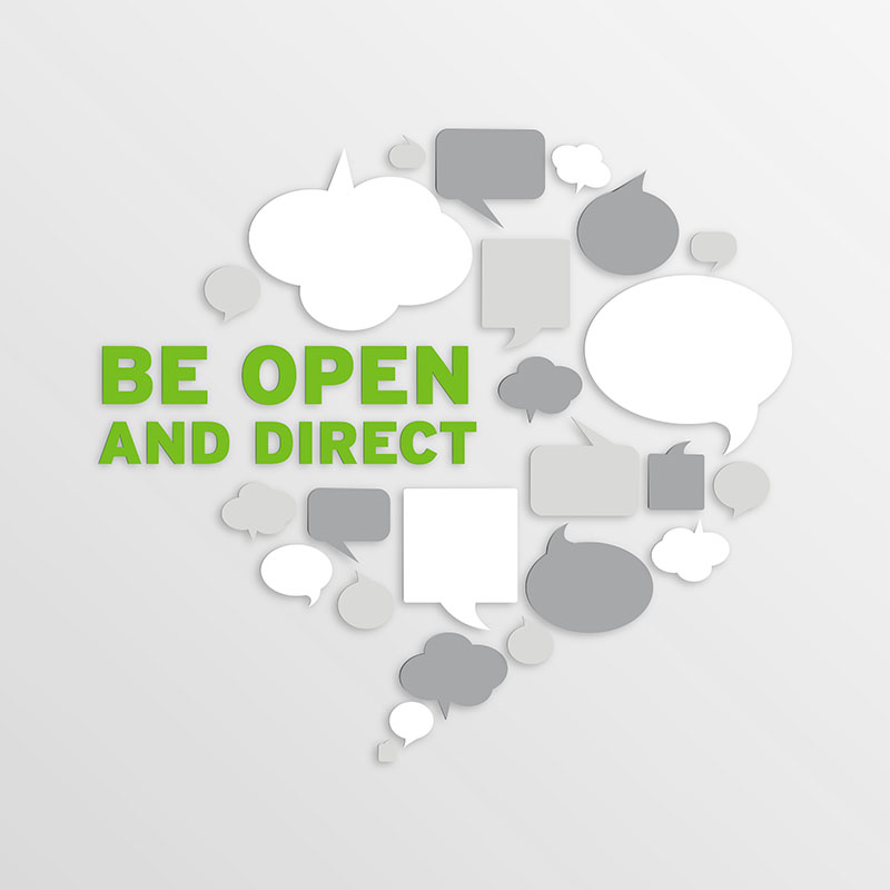 Be Open and Direct-Small